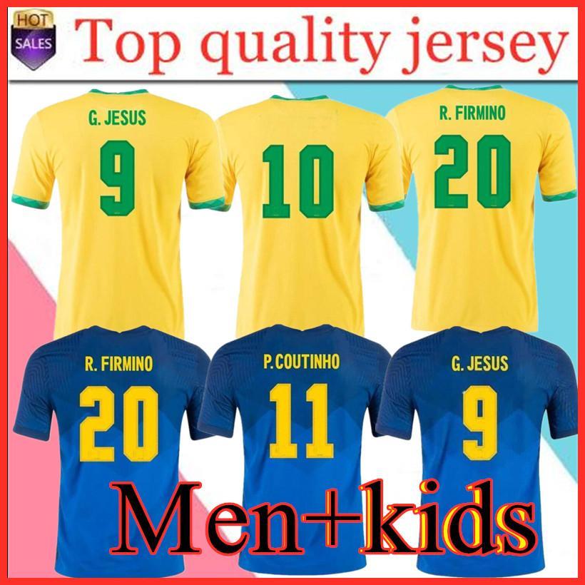 Männer + Kinder 2020 2021 Camiseta de Futbol Paqueta Neres COUTINHO Football Hemd Firma Jesus Fußball Jersey Marcelo Pele 2021 MAILTOT DE FOOT