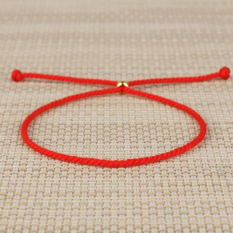 Charm Bracelets QUANCHI Hand-woven Red Rope Bracelet Fashion Couples Simple Cotton Friendship Jewelry Wholesale