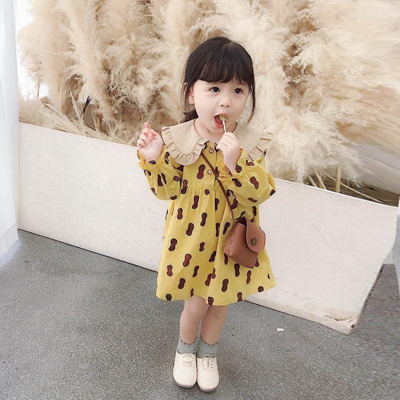 e Autumn Girl Dress da principessa per bambini a maniche lunghe 2021 primavera