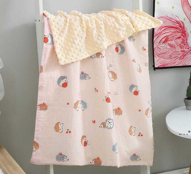 Baumwollblume bedruckte Decken Babykomfortdecke Kinder weiche Nap-Decken direkt gewaschener Kindergarten-Quilt FWC6812