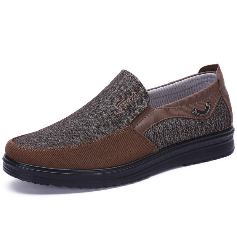 2021 Mode Designer Style de l'entreprise Chaussures Mens Hommes Black Brown Loisirs Flats Soft Flats Soft Hommes Robe décontractée pour la fête 38-44 Deux