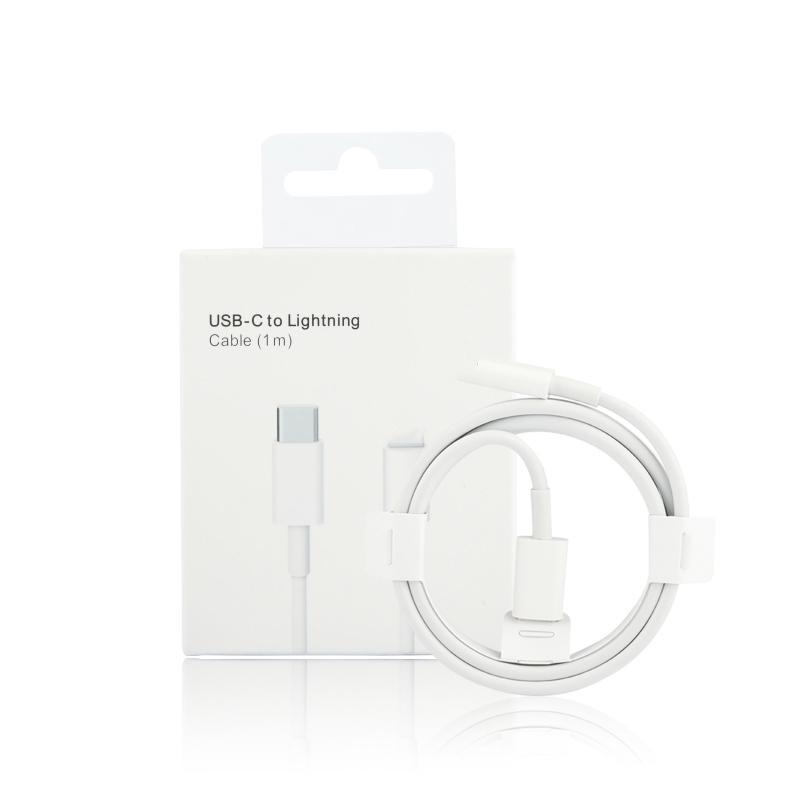 1M 3FT USB-C 케이블 로고가있는 소매 상자 유형 -C 18W PD 전화 충전 케이블 패키지 아이폰 13에 대 한 녹색 막대기
