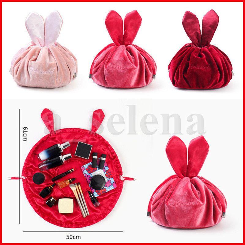Coniglio Designs Lazy Makeup Bags Organizer Coulisstring Cosmetic Bag Flamingo Stampato TRATTAGGIO TRATTAGGIO STOCCAGGIO Kit da toilette