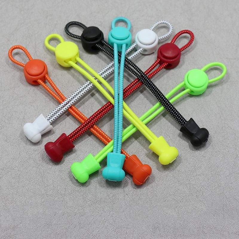 Starke günstige günstige, elastische Verriegelungskrieche abgestreift Kein Krawatten-elastische Schnürsenkel 500pcs / lot für Laufschuhe Fitnessstudio elastische Schnürsenkel