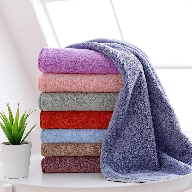 Alta densidade Coral Veet com produtos domésticos hemmed espessados macio absorvente 8-color beleza seca cabelo toalha de presente