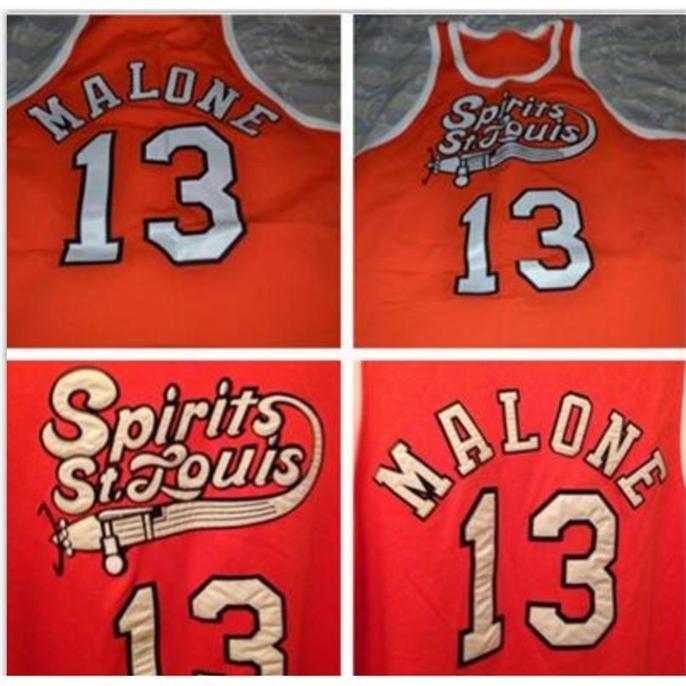 Özel Bay Gençlik Kadınlar Nadir # 13 Musa Malone St Louis Koleji Basketbol Jersey Boyutu S-5XL veya Özel Herhangi bir İsim veya Sayı Forması