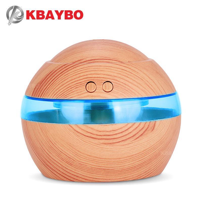 130ml Mini Electric USB Luftbefeuchter Öl Diffusoren Holz mit Licht Ultraschall für Heimbüro Schlafzimmer Befeuchter