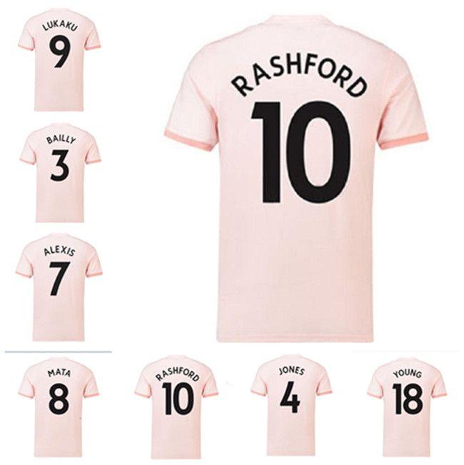 Absolument rose20-18 rétro manchester soccer jersey Alexis Pogba Rashford 18 19 United Adulte homme Vintage Shirt de football classique Uniforme UTD