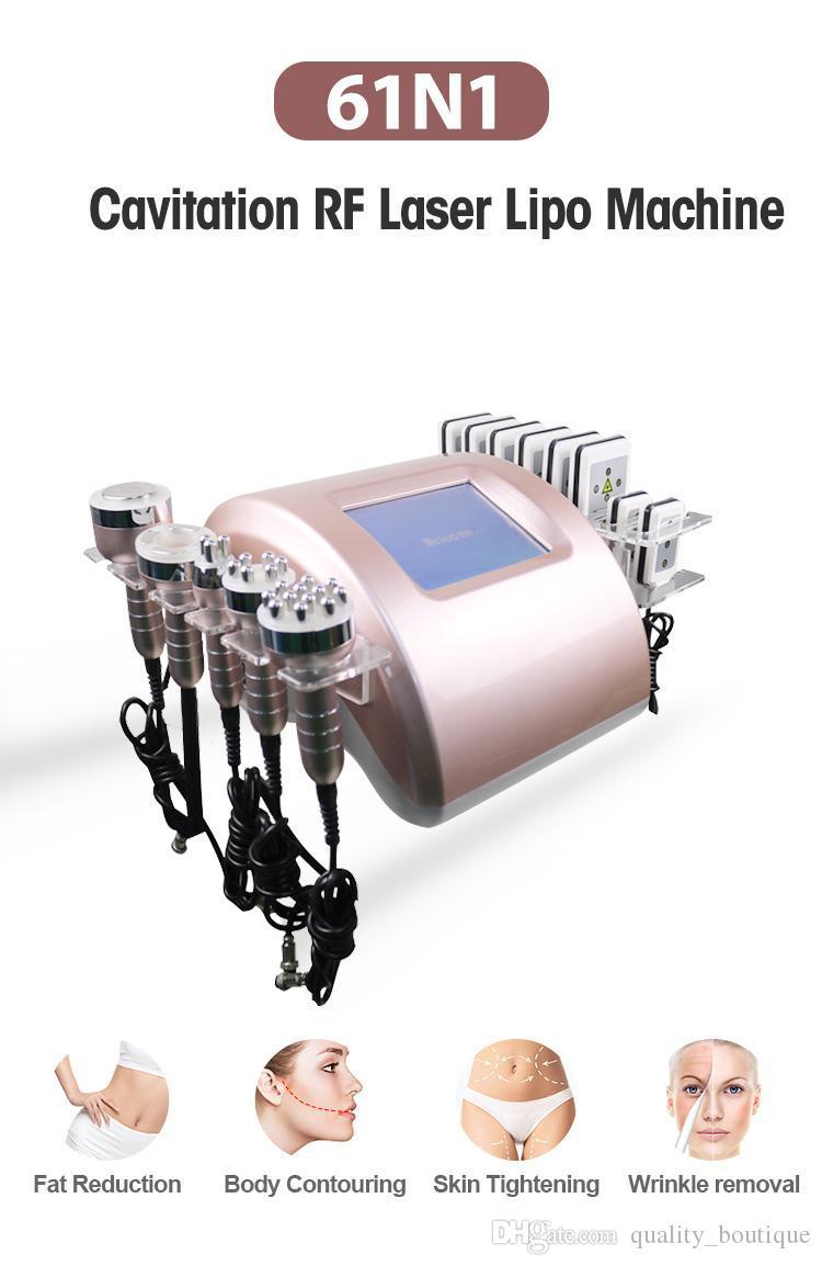 2021 أحدث محمول 6 في 1 آلة التخسيس 40K بالموجات فوق الصوتية شفط الدهون التجويف 8 منصات الليزر فراغ rf العناية بالبشرة صالون سبا معدات تجميل