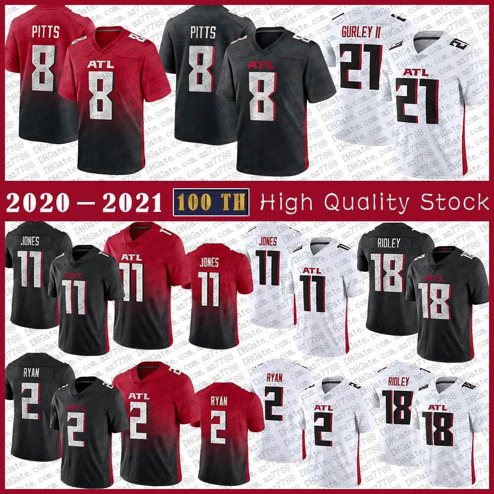 8 Kyle Pitts 11 Julio 45 Deion Jones Jersey Football 2 Matt Ryan 21 Todd Gurley II 97 Grady Jarrett 76 Kaleb McGary 85 Lee Smith 50 Barkevious Mingo 18 Ridley cousue Mens