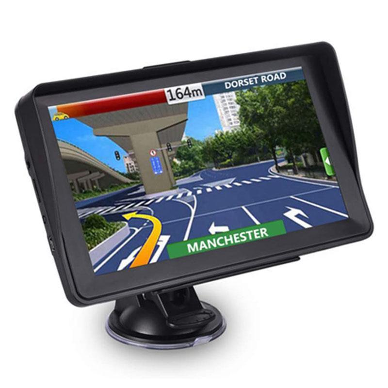 2021 Auto Auto 7 Zoll GPS Navigator mit Sonnenschutz-Schild 8GB 256MB LKW SAT NAV FM Bluetooth Avin Navigation Lebensdauer Karten Updates