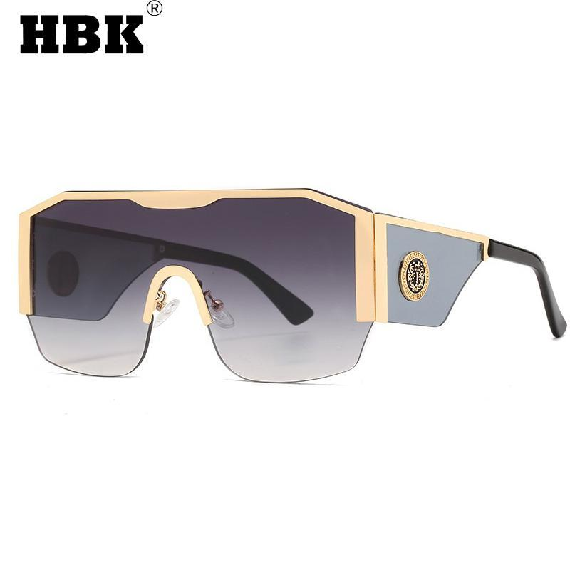 패션 대형 사각형 선글라스 남자 여성 큰 프레임 원피스 태양 안경 파란색 렌즈 운전 안경 유니섹스 UV400