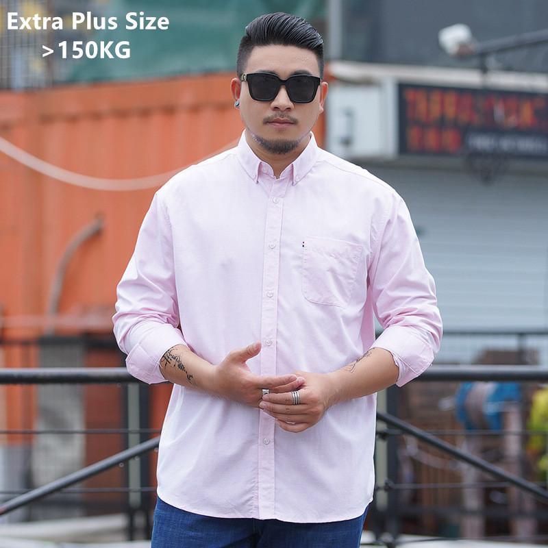 긴 소매 셔츠 남성 정식 정규 맞는 비즈니스 남성 플러스 크기 9xl 10xl 느슨한 7xl 대형 패션 캐주얼 사무실 블라우스 남자 셔츠