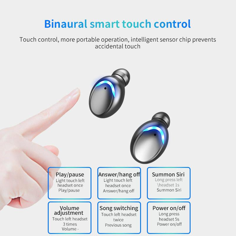 Touch Control Waterproof Ipx7 Digital Display Wireless Tws Earphone Audifonos F9-8 Auriculares F9 Earbuds