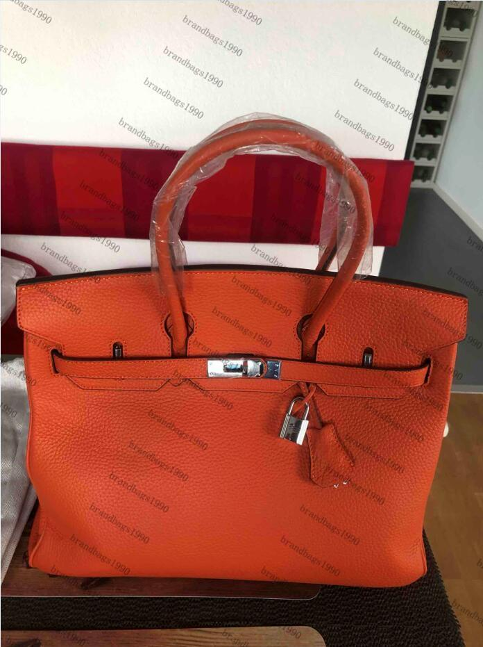 Classic Designer Fashion Bag 35cm 30cm Mulheres Totes de Prata Ferragens Bolsas De Ombro Bolsas De Couro Genuíno Bolsa Louis Vuitton