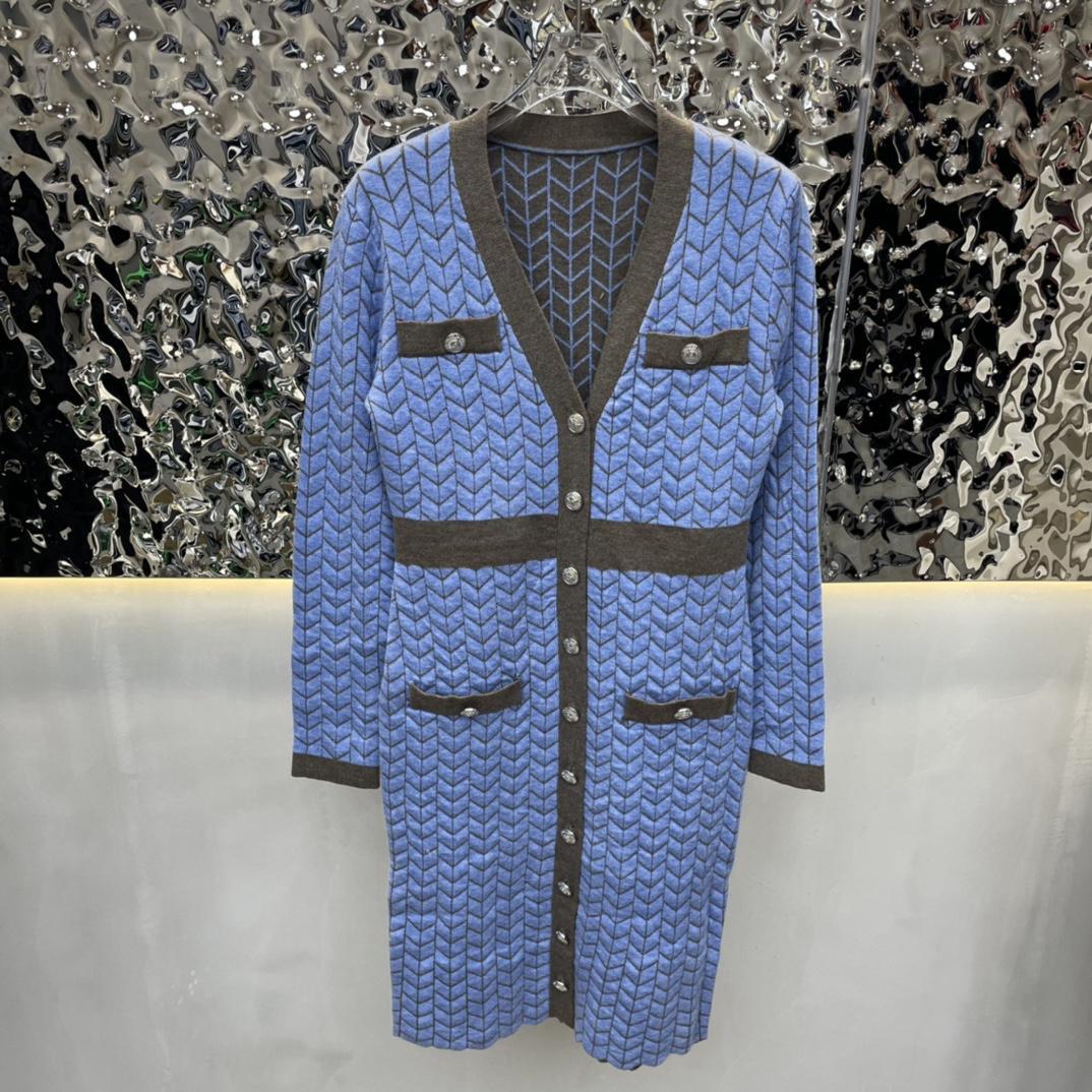 2021 새로운 겨울 쌀쌀한 바람 드레스 높은 느낌 프랑스 첫 사랑 오렌지 줄기 요정 치마 풍부한 아내 뜨개질 스웨터 치마