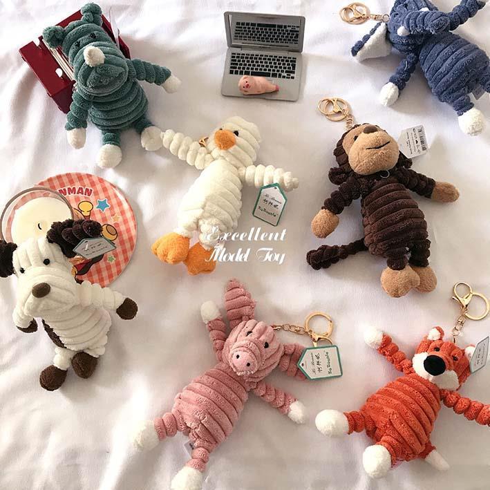 Çirkin Sevimli 33 cm Maymun Fox Panda, Fil Bebek, Peluş Oyuncak, Noel Çocuk Kız Doğum Günü Hediyesi için Doldurulmuş Hayvan Kolye Süs, Ev Dekorasyon, 2-2