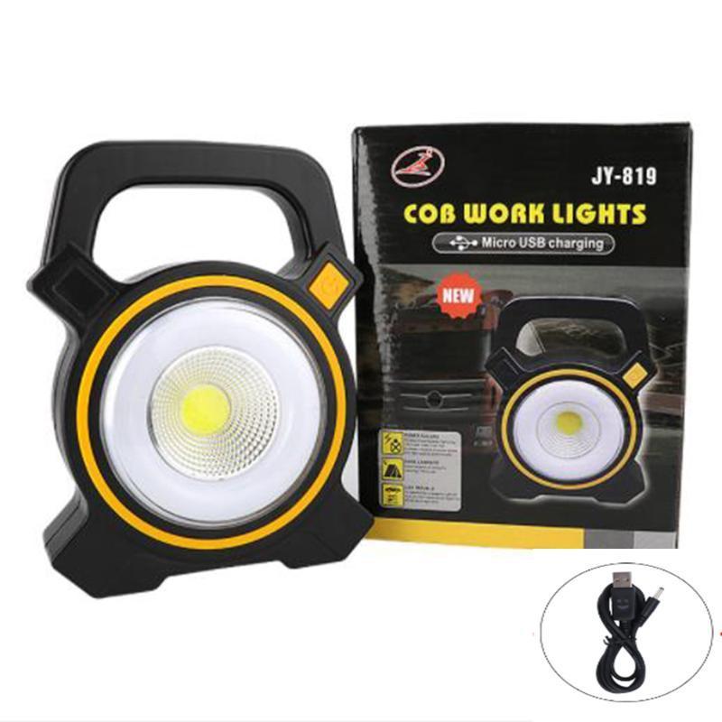 Trabalho de carregamento de luz forte ao ar livre LED emergência de emergência portátil de acampamento solar lanternas