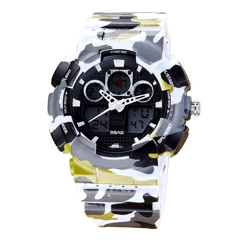 Erkekler Spor Dijital İzle LED Askeri Öğrenci Saatler Erkek Kız Çok Fonksiyonlu Saatı