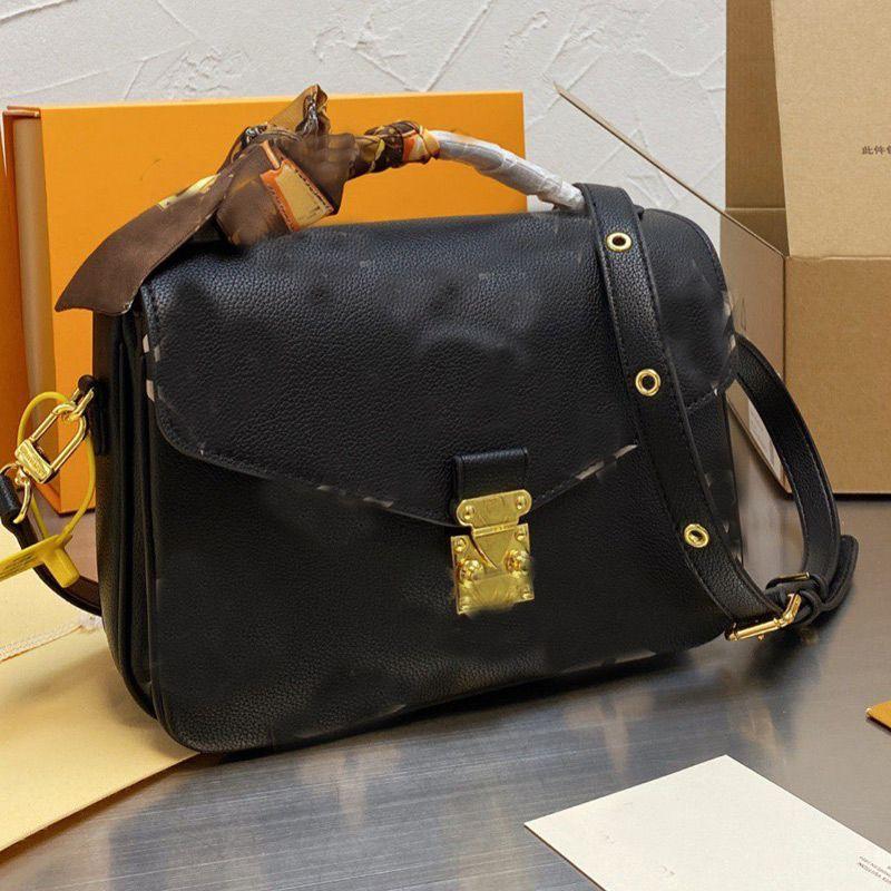 Fashion Messenger Bag Women Flap Handbags Classic Letter Crossbody Shoulder Bags Genuine Leather Handbag Wallet Multi Pochette Metis High Quality Scarf Gift