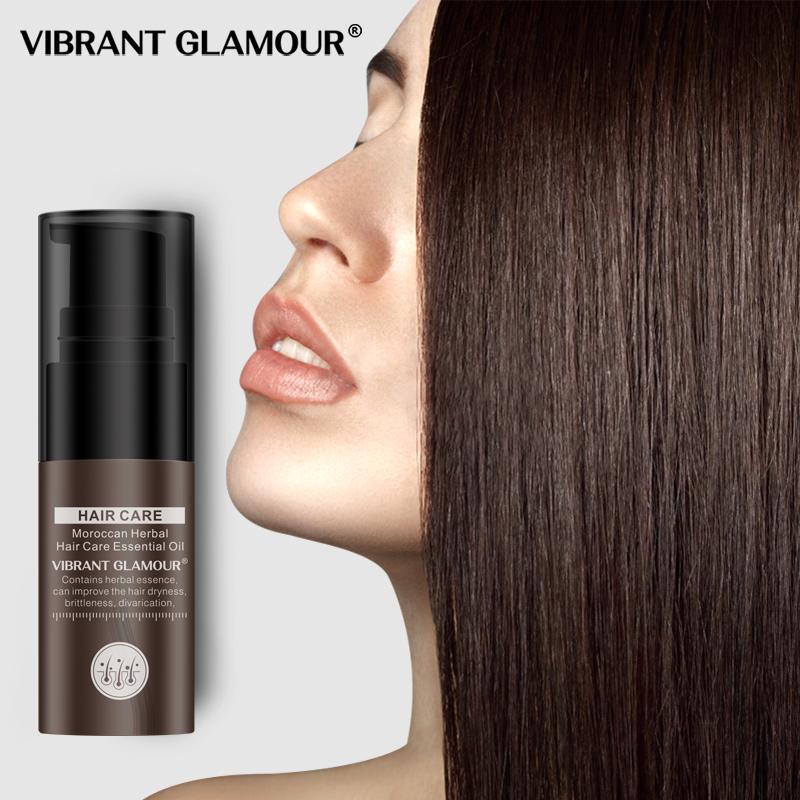 Vibrante glamour Pelo Crecimiento Esencial Marroquí Aceite Esencial Pérdida de Tratamiento Líquido Mejore Mejorar Liso Reducir Forks Seckness Cuidado del cabello