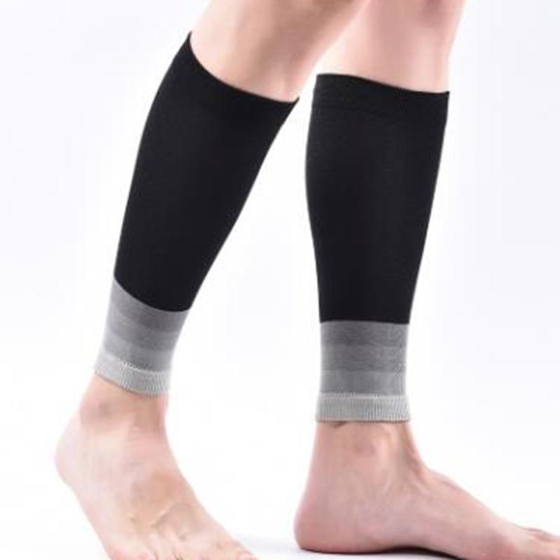 Sports Socks Brothock Compression Shin Guard Pressure Thin Calf Cycling Running Sock Nylon Basketball Football Leggings Sleeves
