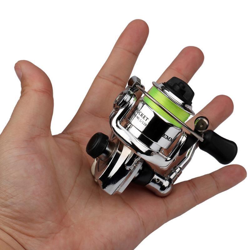 Mini bobine da pesca per bobina di filatura ingranaggi in metallo design liscio e potente per carpa bass trota acqua dolce acqua salata d'acqua dolce Baitcasting