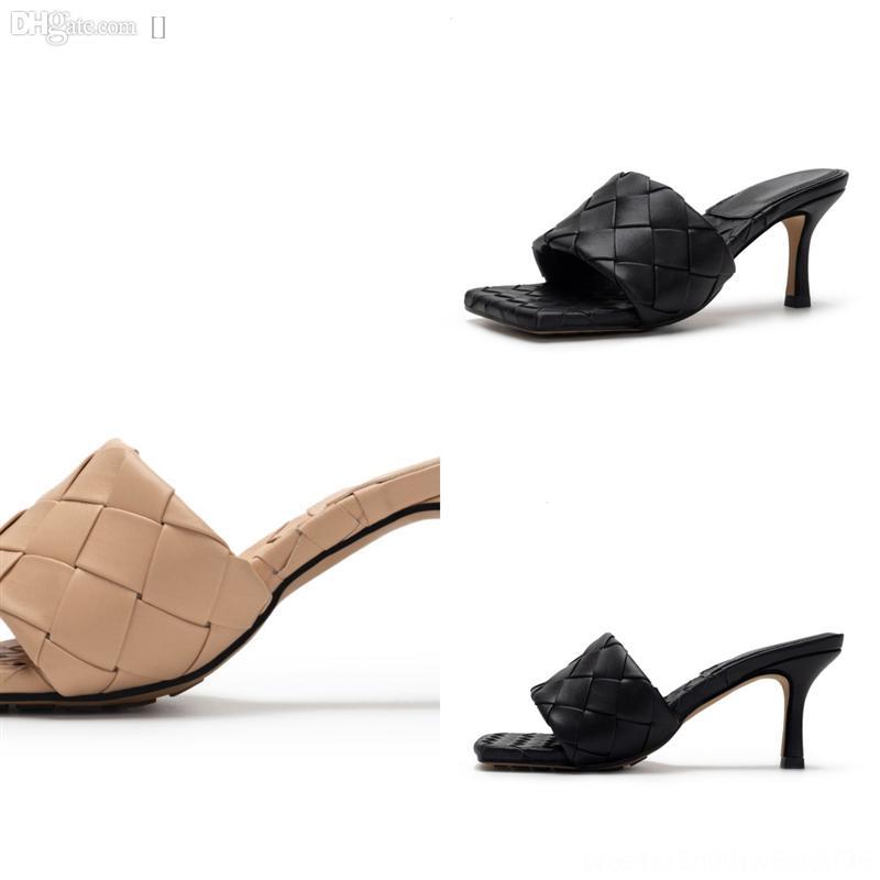 HH59A Yüksek Kalite Terlik Son Sıcak Terlik Satış Bayanlar Lüks Klasik Moda Tasarımcısı Bayanlar Bayanlar Deri Sandalet
