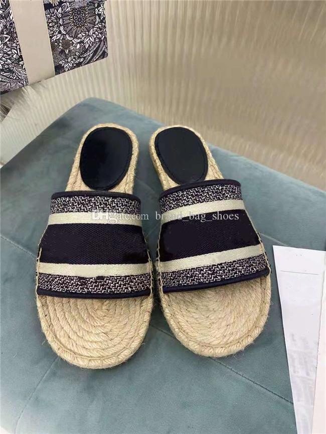 2021 últimas sandalias de damas, zapatos de pescadores bordados jacquard, calidad de lujo, moda de alta gama, cuatro colores para elegir entre zapatillas de diseño de bordados clásicos