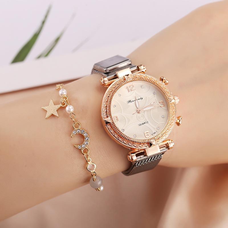 Mode Frauen Luxus Strass Uhr Mesh Band Design Damen Uhren Elegante Diamant Timer Quarz Bewegung Outdoor Clock