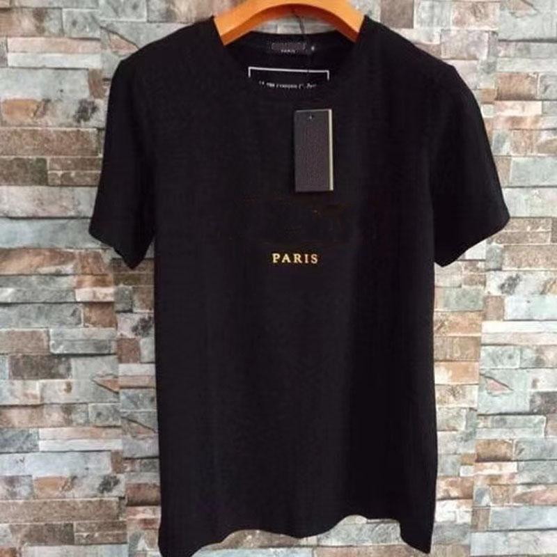 2021 Diseñador Camisetas de Hombres Mensajes de algodón de manga corta para la camiseta de la marca de la marca de verano con la letra de marca 5 colores al por mayor