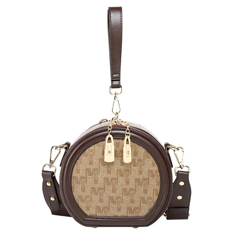 Bolsas de hombro superior para mujer 2021 Bolsos Círculo Monederos Crossbody Real Mujeres Original Marca Moda Cubo de moda Diseñadores genuinos Luxurys Quali QNFB