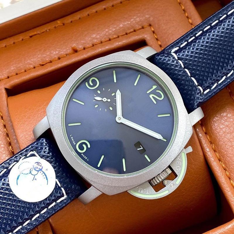 가죽 스트랩 손목 시계와 함께 남성 시계 자동 운동 기계 새로운