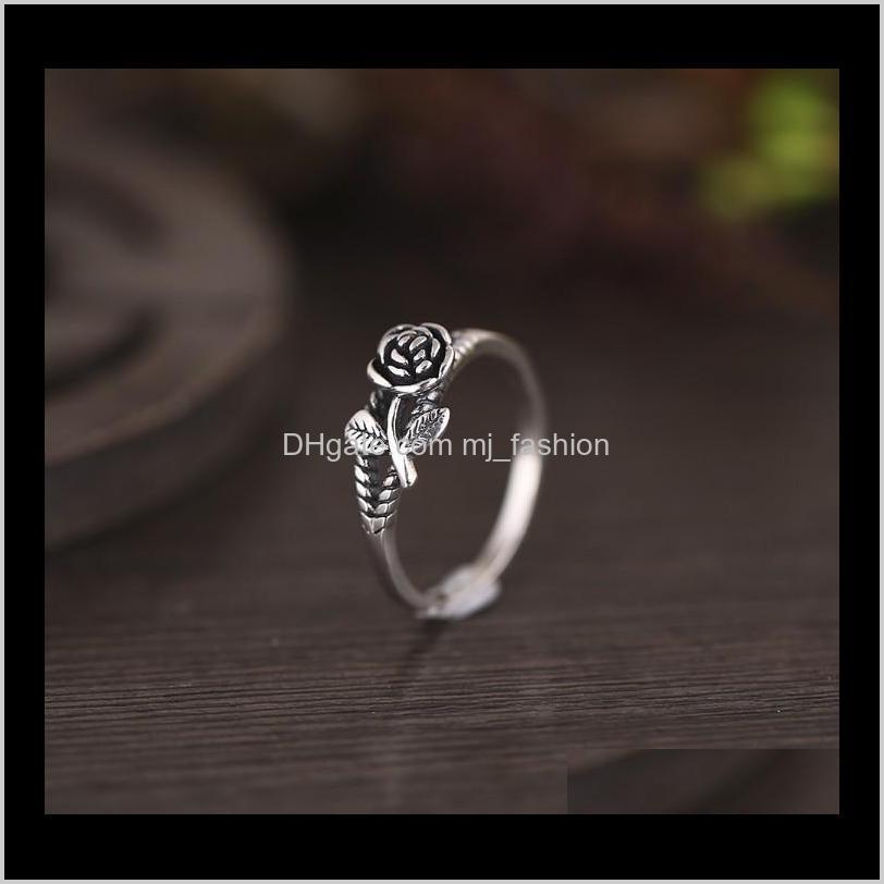 انخفاض الفرقة تسليم 2021 خمر روز زهرة خواتم وصول الدائري للنساء مجوهرات الجميلة هدية yghek