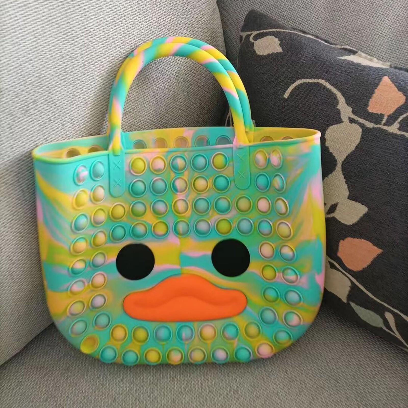 Kawaii Carino Borsa Fidget Giocattoli Spinge la sua bolla Stress Reliever Duck Simpl Dimmer Dimmer Antistress Bambini Giocattolo sensoriale