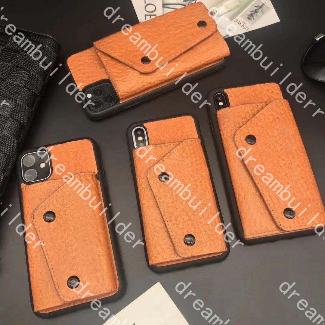 M Fashion Designer Casos para iPhone 12 Pro Max 12mini 11 11PRO 11PROMAX 7 8 Plus x XR XSmax Capa PU couro com carteira Shell Samsung S10 S20 S20P NOTA 10 20U