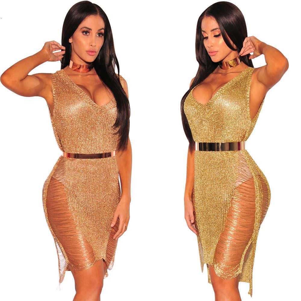 2020 Summer Designer Designer Abbigliamento Sexy Donne Rose Golden Beach Dress Beach Abito il nuovo elenco