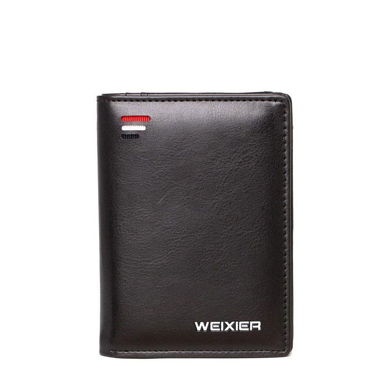 الرجال المحفظة قصيرة رجل مصغرة ضئيلة محفظة سعة كبيرة عملة جيب الذكور محافظ جلد الحقيبة خمر كليب حقيبة المال