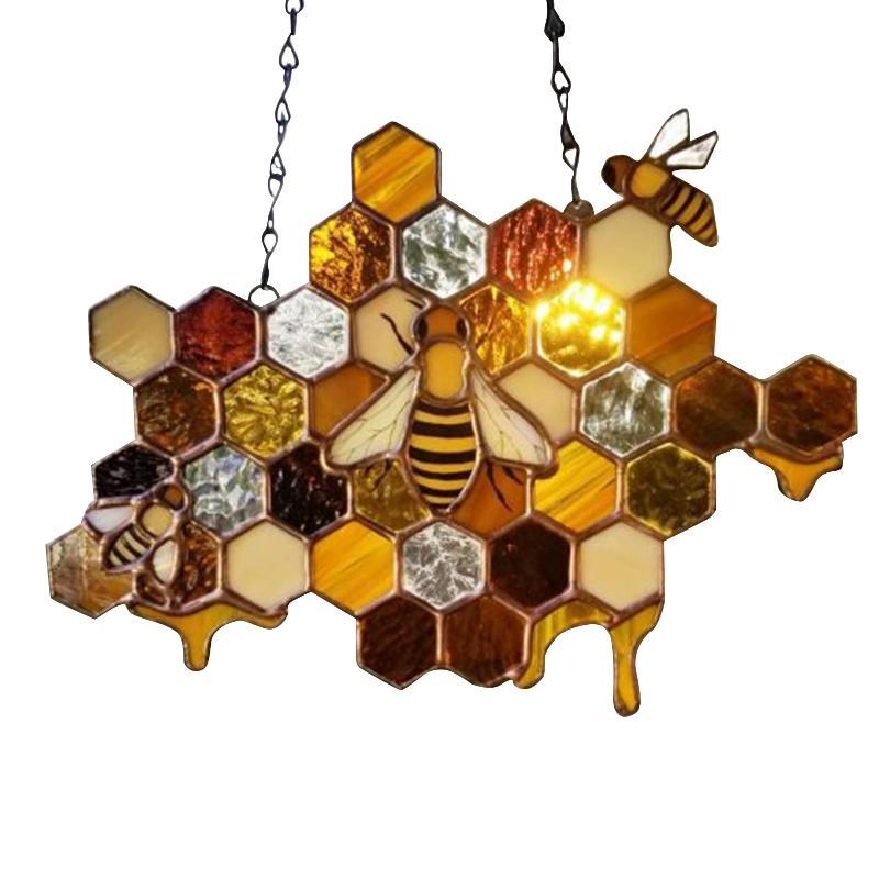 Jardin Décoratif Board Bee Honeycombe Ornements Pendentif Décoration Sun Travader Decorations