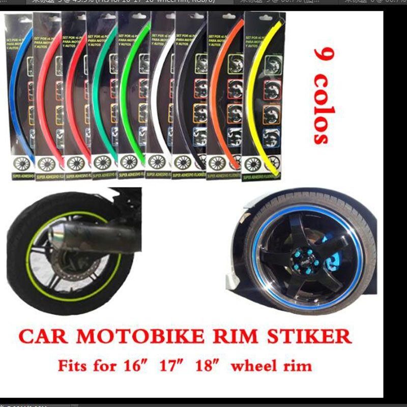 Pegatina reflectante de la rueda del cubo de la rueda Calcomanía de la rueda de la rueda de la motocicleta del automóvil Etiqueta engomada de la llama