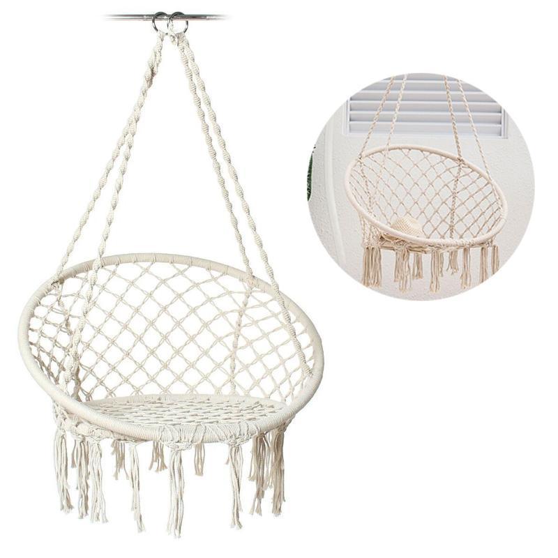 Lagermöbel Gartenstuhl Swinging Indoor Outdoor Hängematte Hängen Seil Swing Seat Camping