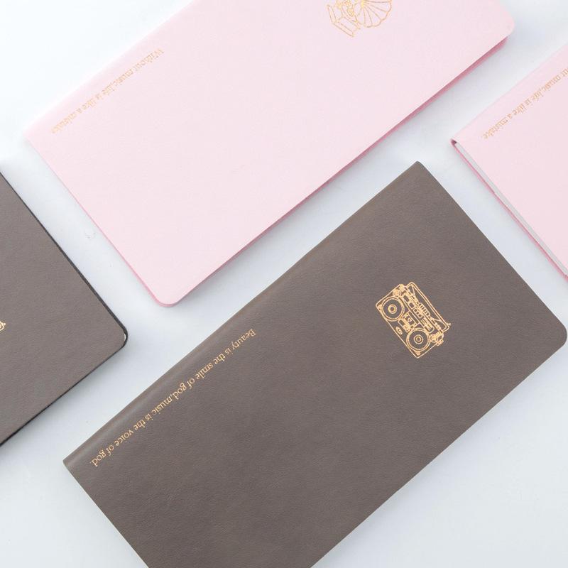 Еженедельный планировщик A6 ноутбук 2021 повестки дня путешествий журнала книга кожа портативный свежий график канцтовары школьные принадлежности блокноты блокноты