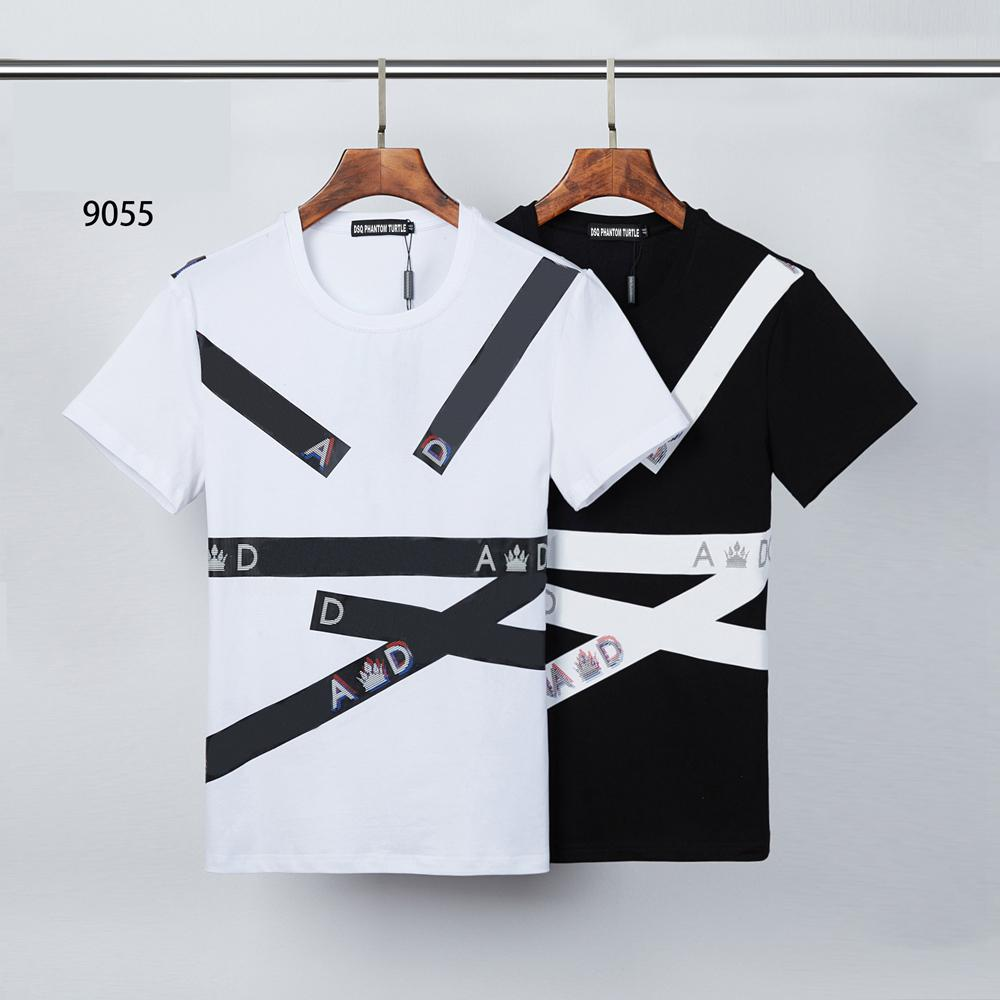 DSQ Phantom Tortue 2021ss New Mens Designer T-shirt Paris Mode T-shirts Été DSQ Modèle T-shirt Homme Top Qualité 100% coton Top 0576