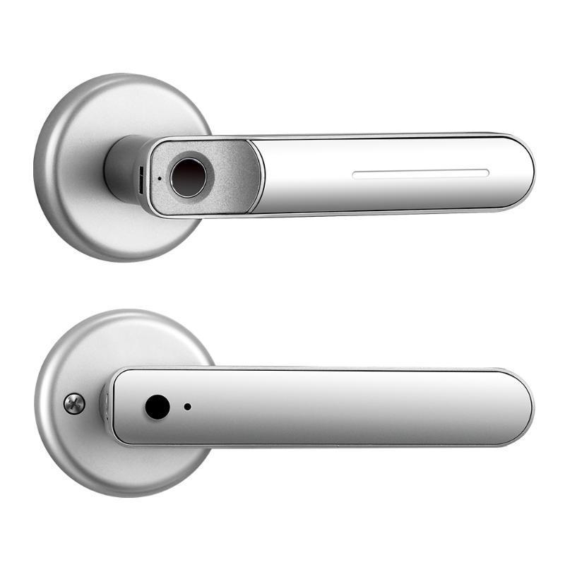 Дверной замок отпечатков пальцев Смарт-ручка Разблокируйте безопасный биометрический вход без ключа для семейного офиса