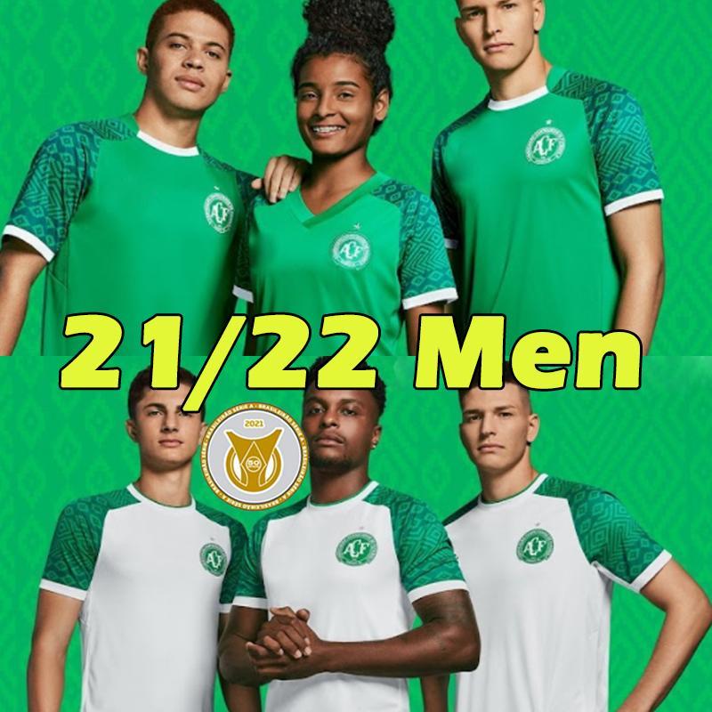Chapecoense Futbol Formaları 2021 2022 Fabinho Ravanelli Geuvânio Bruno Silva Tiepo Camisas de Futebol Erkekler 21/22 Futbol Gömlek Maillots Top