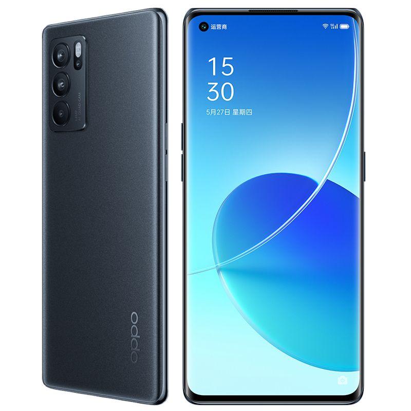 Original Oppo Reno 6 Pro 5G Mobiltelefon 8 GB RAM 128 GB ROM MTK Dimension 1200 64MP Android 6,55 Zoll Amoled Vollbild-Fingerabdruck-ID Gesicht NFC 4500mAh Smart Mobiltelefon