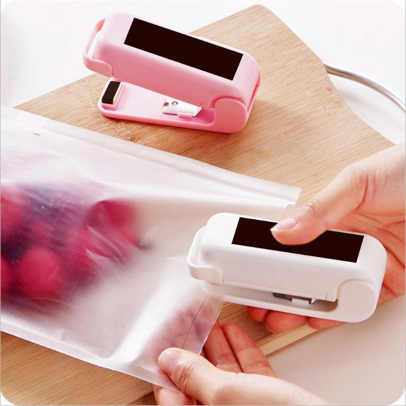 가방 클립 3 조각 씰링 기계 전기 미니 열 휴대용 음식 신선한 클립 저장, 흰색