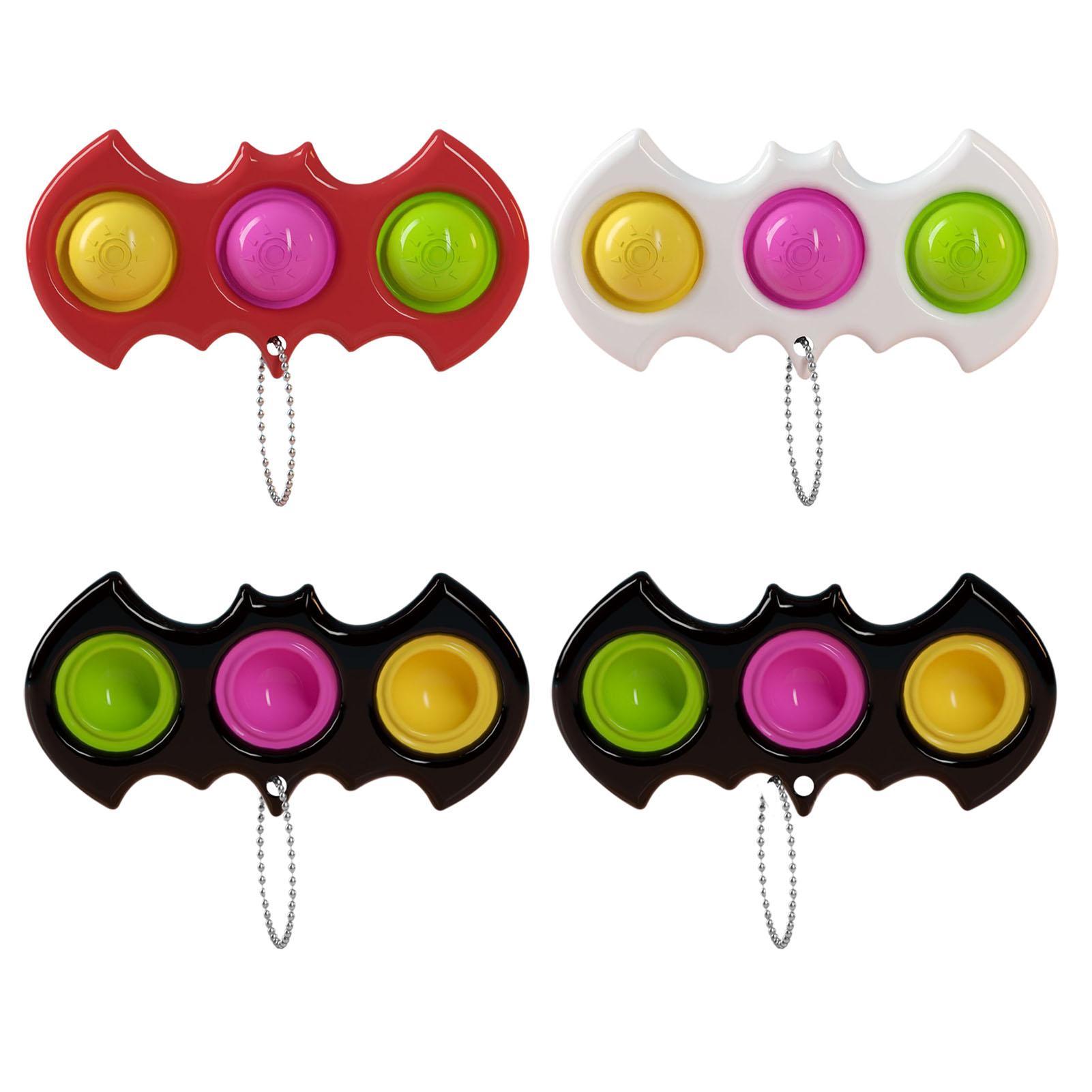 Двухсторонний Push Bubble Sensosory Fidget Toys Bearchain Сердцебиение для детей Для детей Аутизм взрослых Антизм