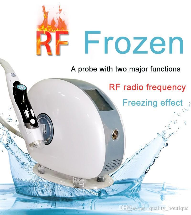 2 in 1 RF Frozen Skin Rejuvenation Tighten Machine Body Slimming Firming Eye Bag Wrinkle Removal Face Lifting Beauty Device