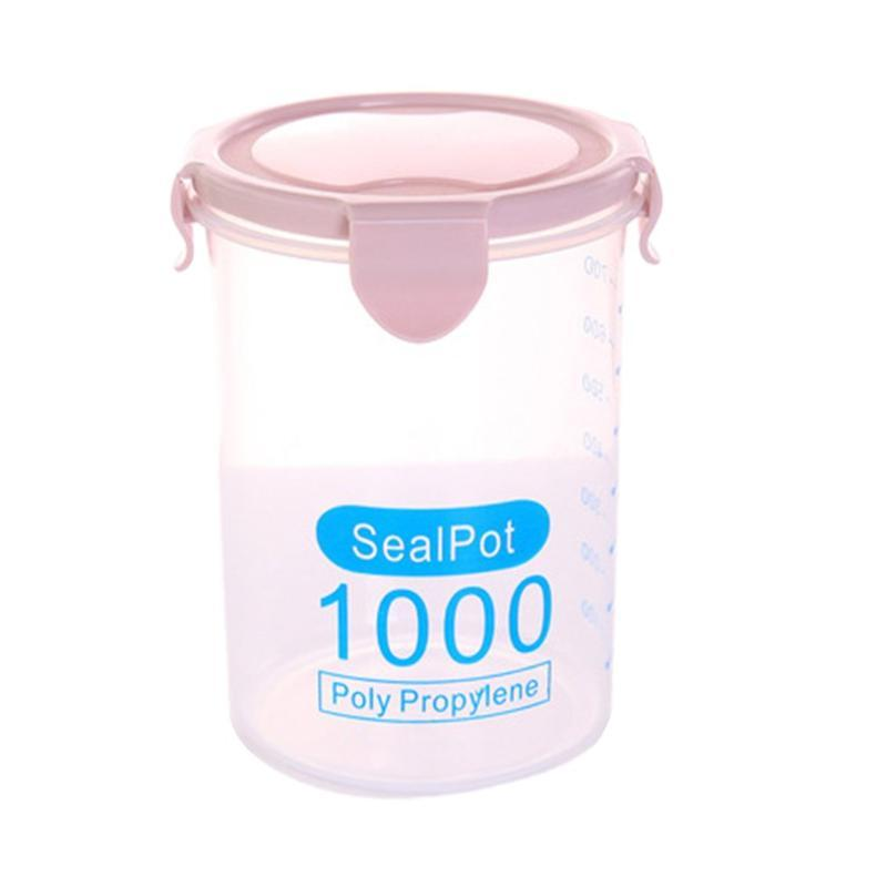 Storage Bottles & Jars Multi-functional Clear Plastic Sealed Tank Kitchen Dry Containers Home Grain Jar